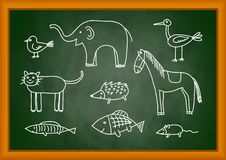 Drawing of animals stock illustration