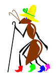 Drawing ant Royalty Free Stock Photo