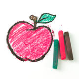 Drawing of apple Royalty Free Stock Photos