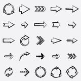 Drawing arrows. Set 3. vector eps10 Stock Photography
