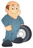 Automobile Engineer - Cartoon Character - Vector Illustration. Drawing Art of Cartoon Automobile Engineer Character Vector Illustration Stock Photography