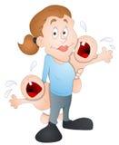 Baby Sitter - Cartoon Character - Vector Illustration Stock Photo