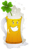 Cartoon Character - Beer Glass St Patrick's Day - Vector Illustration Royalty Free Stock Image