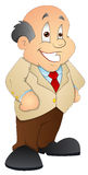 Businessman - Cartoon Character - Vector Illustration Stock Image