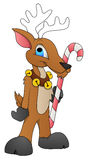 Santa Reindeer - Cartoon Character - Vector Illustration Stock Photography
