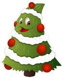 Cartoon Christmas Tree Character - Vector Illustration Stock Image
