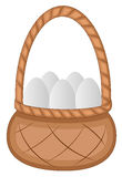 Easter Eggs Basket - Cartoon Character - Vector Illustration Royalty Free Stock Photos