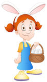 Easter Girl - Cartoon Character - Vector Illustration Stock Photos