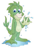 Cute Water Monster - Cartoon Character - Vector Illustration Royalty Free Stock Photography