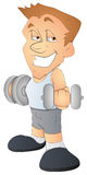 Bodybuilder - Cartoon Character - Vector Illustration Stock Images