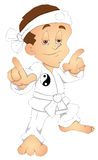 Karate - Cartoon Character - Vector Illustration Stock Photos