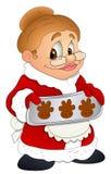 Christmas Granny Lady - Cartoon Character - Vector Illustration Stock Image
