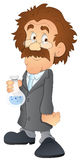 Scientist - Cartoon Character - Vector Illustration Royalty Free Stock Photos