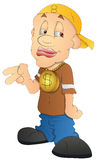 Cool Rapper - Cartoon Character - Vector Illustration Stock Images