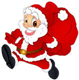 Christmas Santa Cartoon - Vector Illustration Royalty Free Stock Image