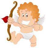 Cute Cartoon Cupid - Vector Illustration Stock Photography