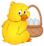 Easter Chicken - Cartoon Character - Vector Illustration Royalty Free Stock Images