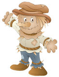 Cute Scarecrow - Cartoon Character - Vector Illustration Royalty Free Stock Images