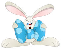 Easter Bunny - Cartoon Character - Vector Illustration Stock Photography