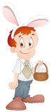 Easter Boy - Cartoon Character - Vector Illustration Royalty Free Stock Image