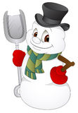 Cartoon Snowman - Vector Illustration Stock Photography