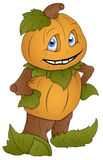 Pumpkin Man - Cartoon Character - Vector Illustration Stock Photo