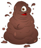 Happy Mud Monster - Vector Illustration Stock Images