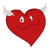Flying Heart - Cartoon Character- Vector Illustration Royalty Free Stock Image