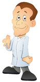 Patient - Cartoon Character- Vector Illustration Royalty Free Stock Photos
