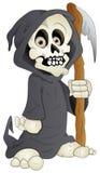 Cartoon Grim - Vector Illustration. Drawing Art of Scary Halloween Cartoon Grim Skeleton Vector Illustration Royalty Free Stock Photo