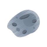 Drawing asteroid meteorite rock image. Illustration eps 10 Stock Image