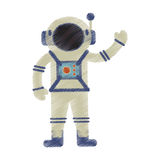 Drawing astronaut spacesuit helmet antenna. Illustration eps 10 Royalty Free Stock Photo