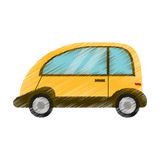 Drawing automobile vehicle eco image Stock Images
