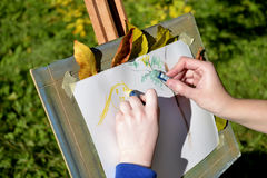 Drawing autumn Stock Photography