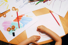 Drawing back to school Royalty Free Stock Photography