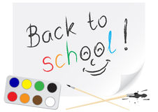 Drawing back to school Stock Photography