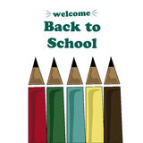 Drawing back to school Stock Image