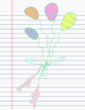 Drawing balloon on paper Stock Photography