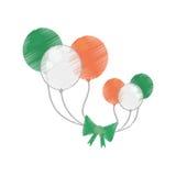 Drawing balloons flag irish st patricks day Royalty Free Stock Image