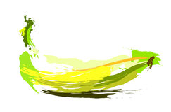Drawing banana. On white background. Vector illustration Stock Images