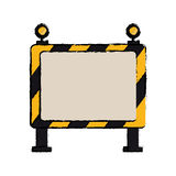 Drawing barricade safety maintenance work Royalty Free Stock Photography