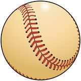 Drawing of a Baseball. This is a drawing of a baseball that has a sort of vintage, popular look to it Royalty Free Stock Photos