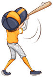 A drawing of a baseball player Royalty Free Stock Photography