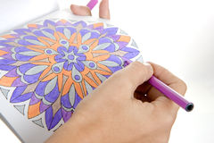 Drawing a beautiful mandala Royalty Free Stock Image