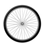 Drawing bicycle wheel Royalty Free Stock Photos