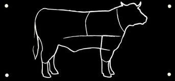 Drawing black bull Stock Photography