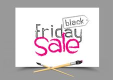 Drawing black friday sale Stock Photography