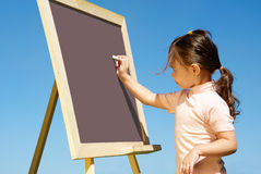 Drawing on blackboard Stock Photography