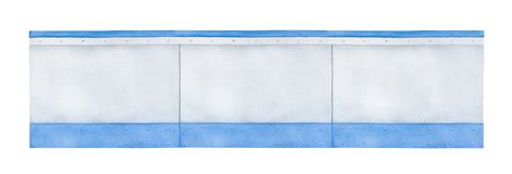 Drawing of blank arena boards. Drawing of blank arena boards, where sponsor companies and advertising content is usually placed. Hand drawn watercolour painting vector illustration