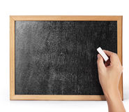 Drawing  blank blackboard Stock Photos